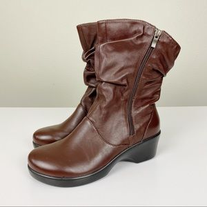 Alegria Ivy Brown Leather Mid Shaft Boots 39 US 9
